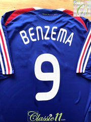 2007/08 France Home Football Shirt Benzema #9 (XL)