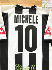 2003/04 Udinese Home Football Shirt Michele #10 (L)