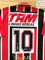 1993 Sao Paulo Away Football Shirt Leonardo #10 (XL)