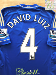 2012/13 Chelsea Home Premier League Football Shirt David Luiz #4 (S)