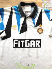 1991/92 Internazionale Away Football Shirt (L)