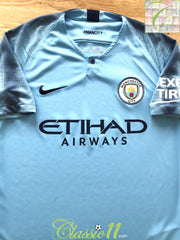 2018/19 Man City Home Football Shirt (M)