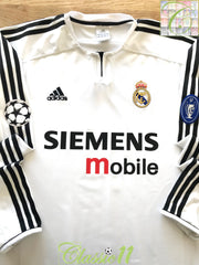 2003/04 Real Madrid Home Champions League Football Shirt. (XL)
