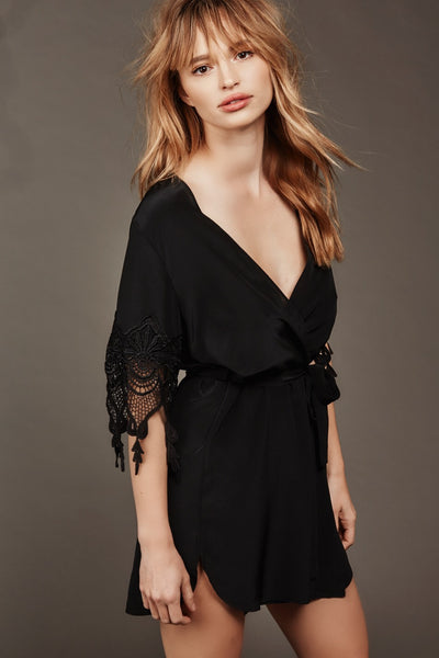 Fox Robe - Black