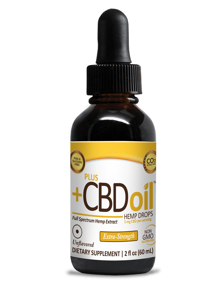 Drops - 750mg Unflavored - Extra Strength - PLUSCBD™ Oil