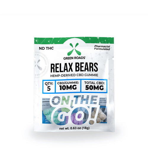 50mg Relax Bear CBD Gummie - Green Roads