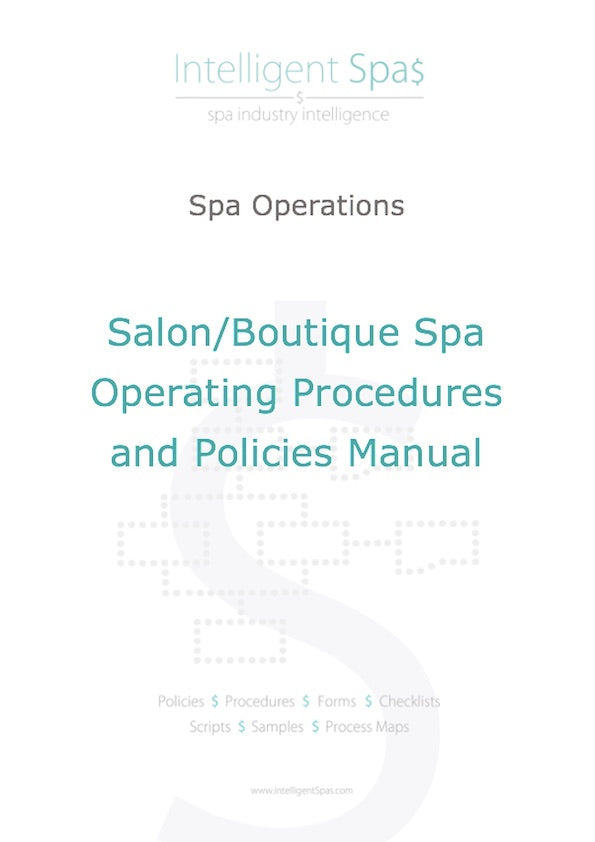 Salon and Boutique Spa Operations and Treatments Manuals Package