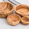 SET of 4 OLIVE WOOD NESTING BOWLS