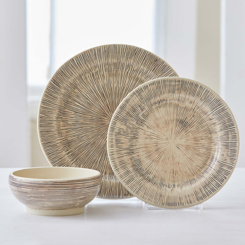 PINWHEEL STRIPED DINNERWARE