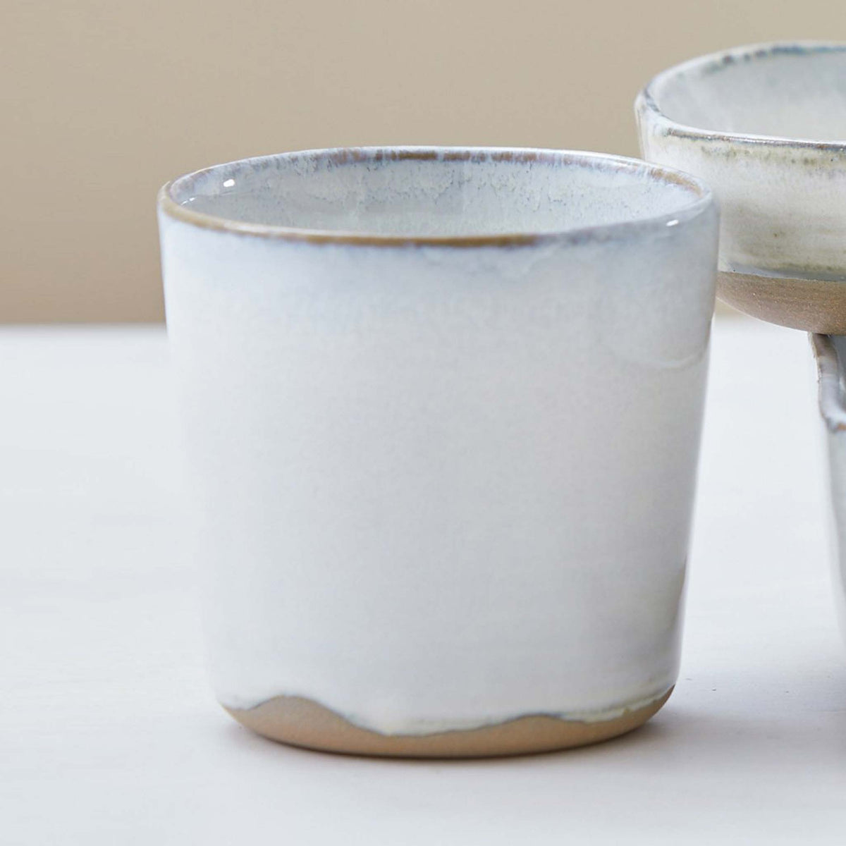 GLAZED STONEWARE DISHES/TUMBLER