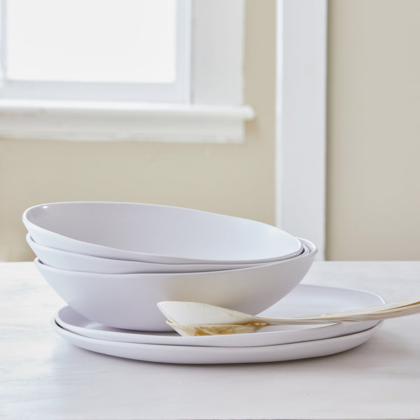 MATTE WHITE MELAMINE SERVING