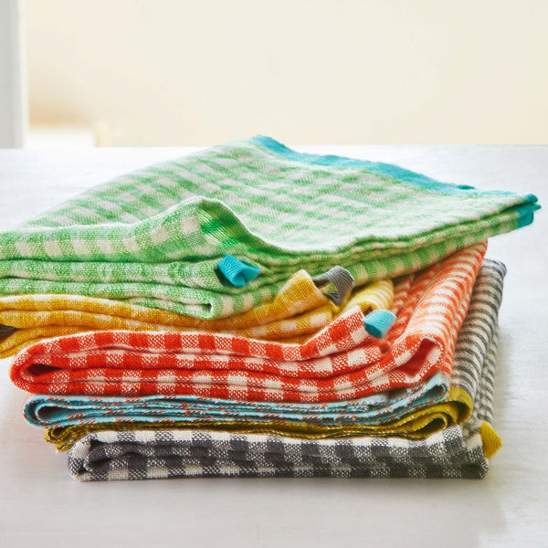 GINGHAM LINEN KITCHEN TOWELS