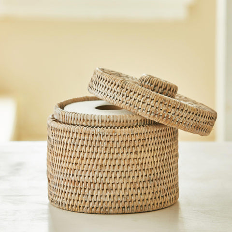RATTAN TOILET ROLL BOX