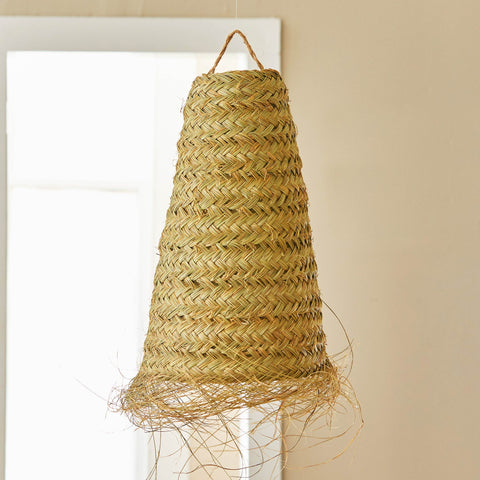 MOROCCAN GRASS LIGHT PENDANT-LARGE CONE