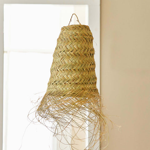 MOROCCAN GRASS PENDANT LIGHT-MEDIUM CONE