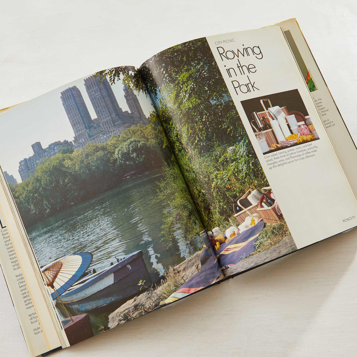 Lee Bailey's City Foods Cookbook. Vintage cookbook for real tiny kitchens. The best apartment cookbook to prep a romantic picnic lunch in the park.