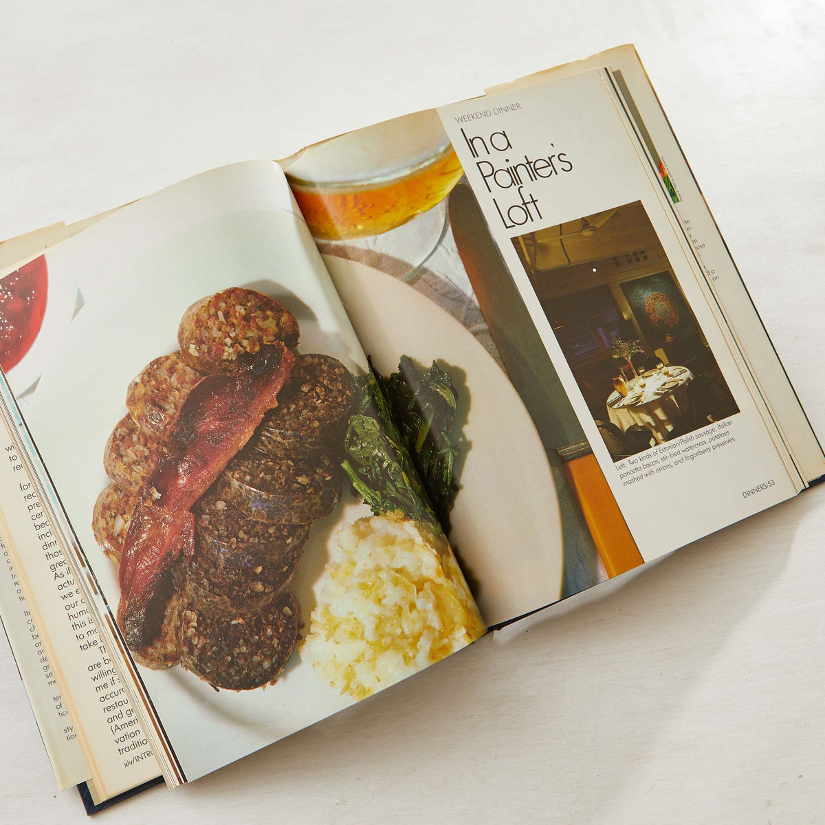 Lee Bailey's City Foods Cookbook. Vintage cookbook for real tiny kitchens. Best apartment cookbook to prep a celebration dinner in a small kitchen.