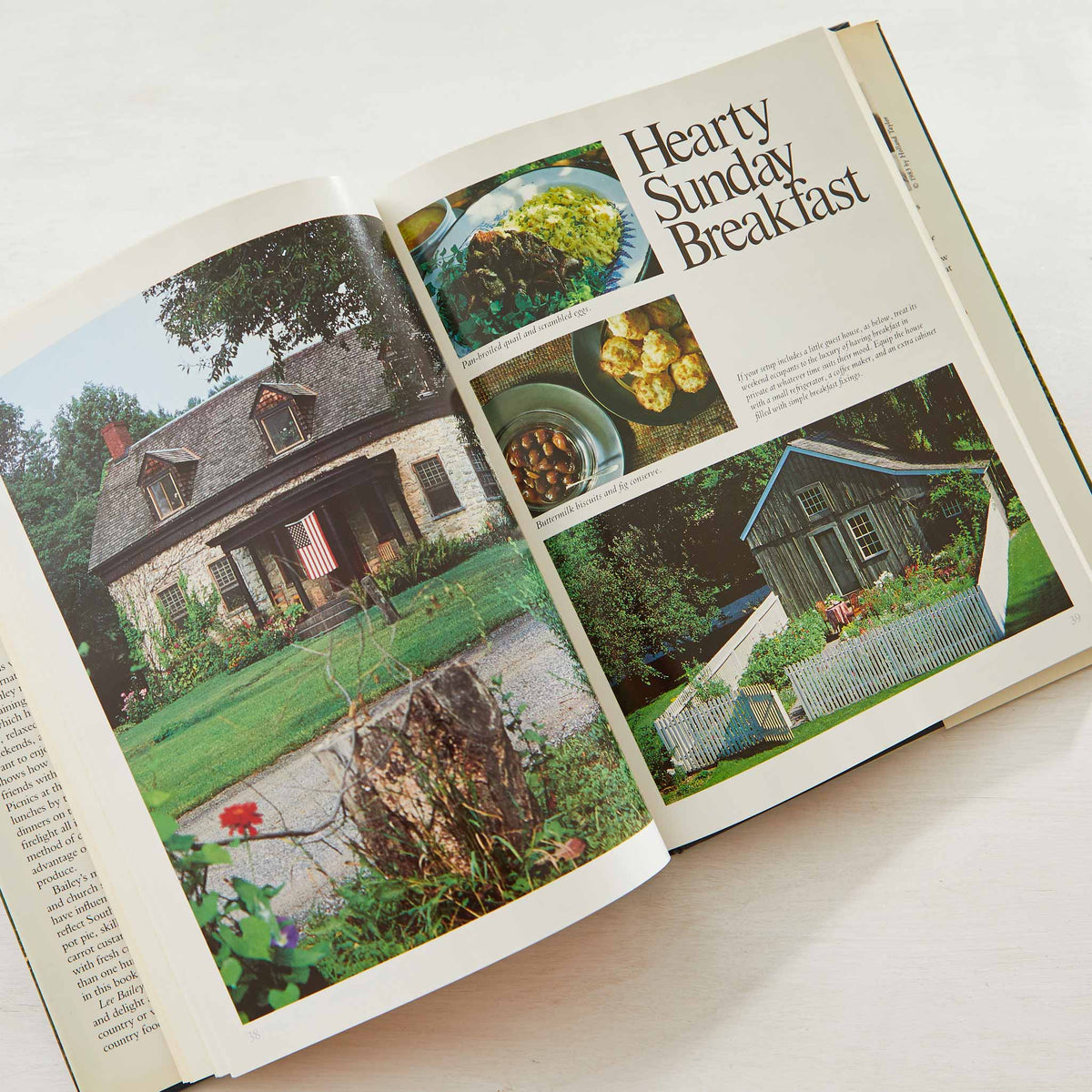 Lee Bailey's County Weekends. Best healthy breakfast cookbook. Over-served? Best hangover cookbook ever. Farm to table before it was a thing.