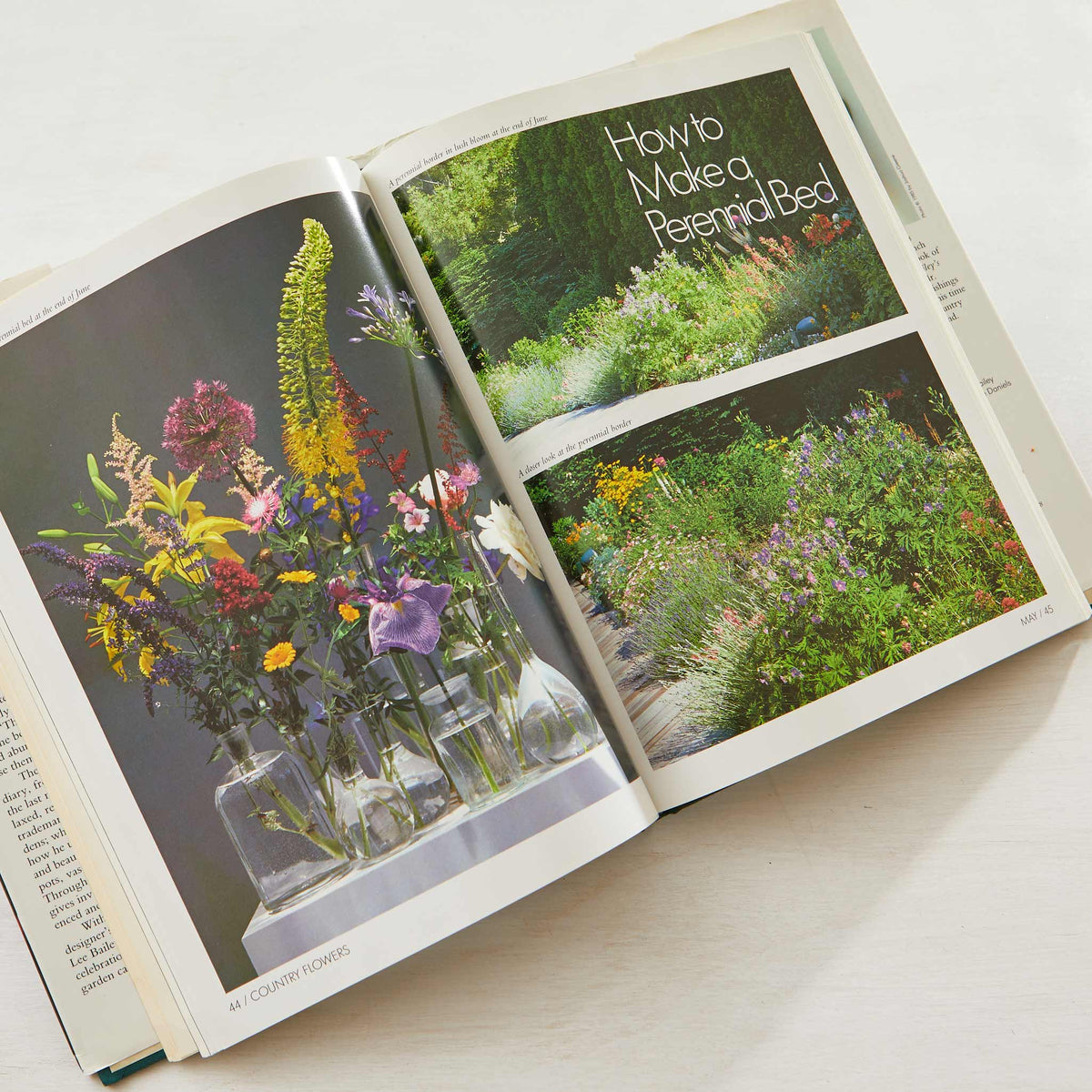 Lee Bailey's County Flowers. Best flower gardening bible. Covers meadows, perennial beds, flowers to plant in fall and winter. Best gardening guide.
