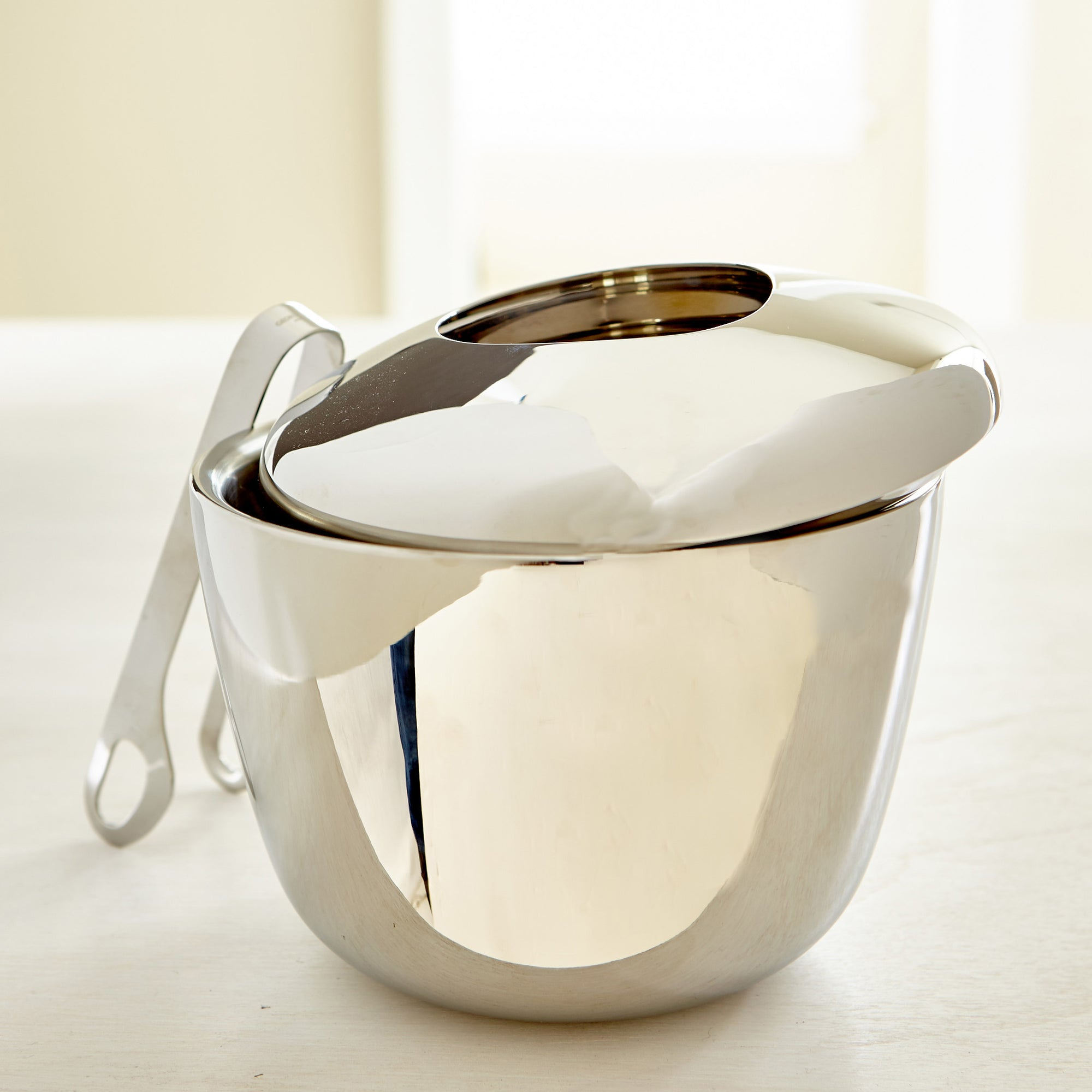 GEORG JENSEN ICE BUCKET WITH TONGS