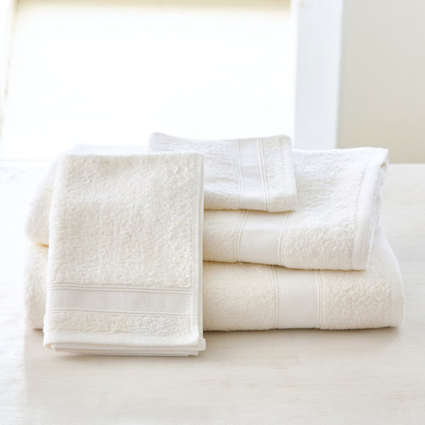 TERRY LINEN TOWEL COLLECTION - OPTIC WHITE