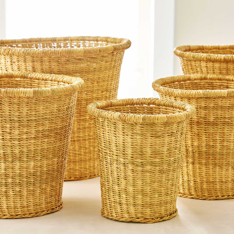 VETIVER GRASS BASKETS