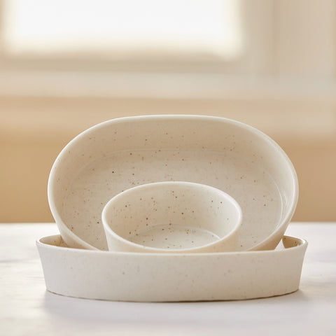 VANILLA BEAN PORCELAIN TRAYS