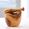 HANDCRAFTED OLIVE WOOD MORTAR & PESTLE