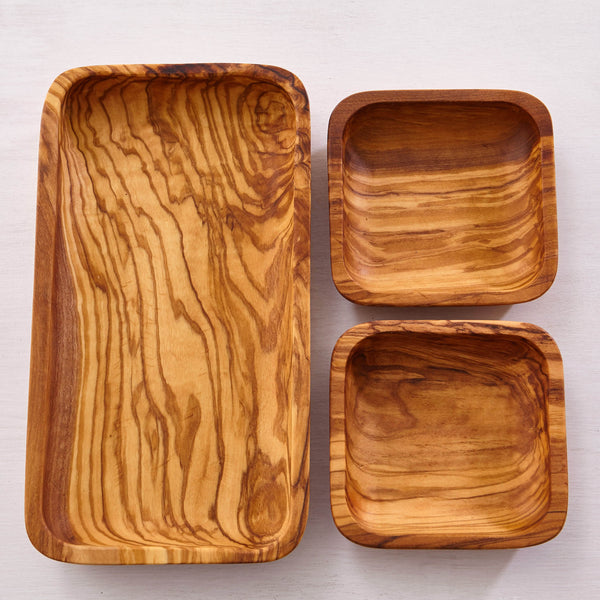 OLIVE WOOD 3-PIECE SET