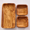 HANDCRAFTED OLIVE WOOD 3-PIECE SET