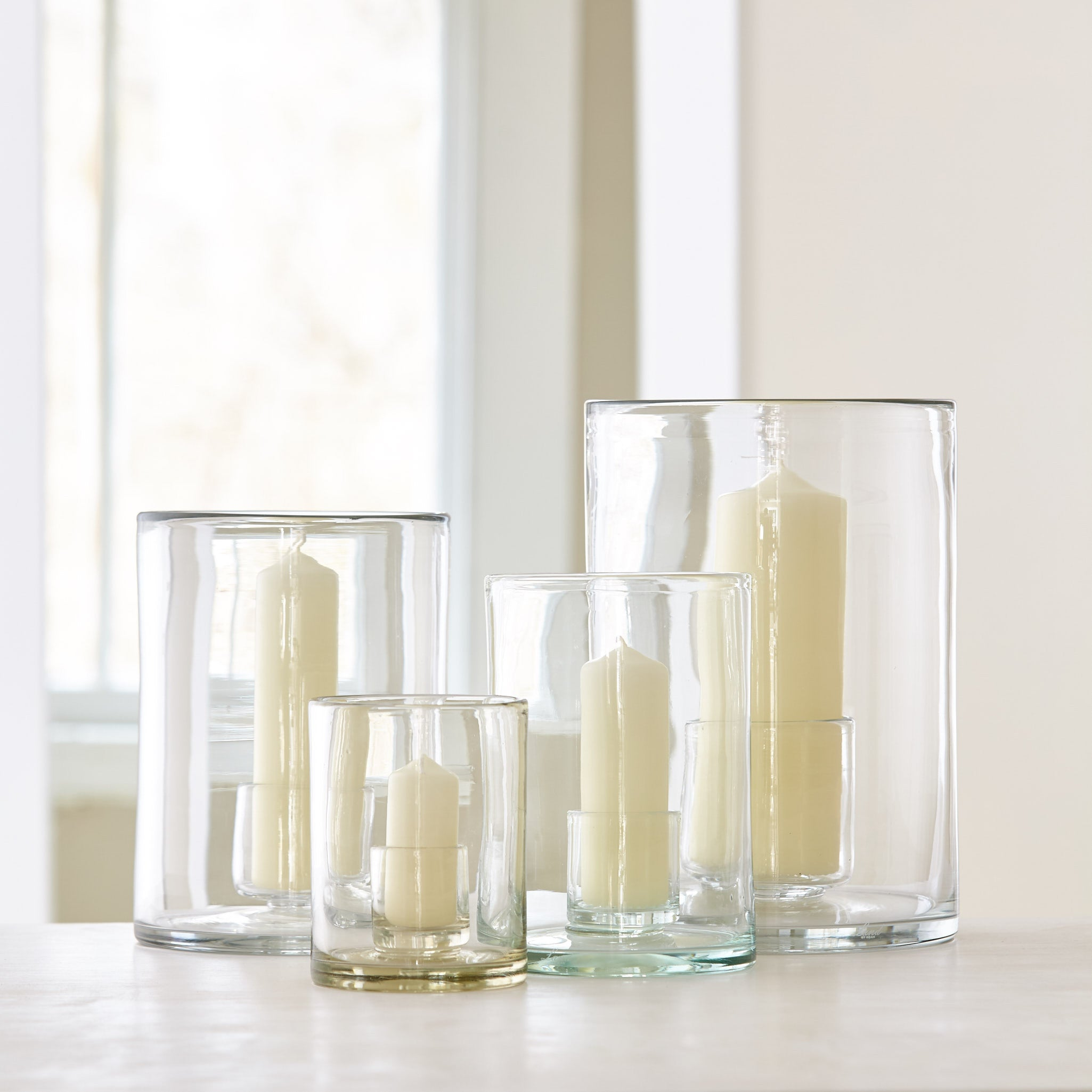 Privet House Supply Mouth Blown Glass Hurricanes