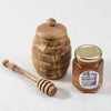 HANDCRAFTED OLIVE WOOD HONEY POT