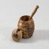 OLIVE WOOD HONEY POT