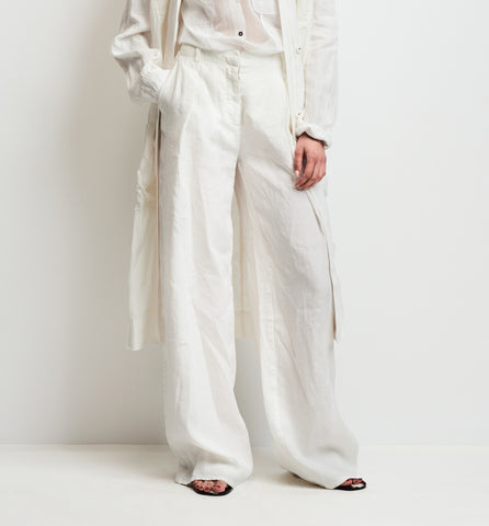 washed linen pant