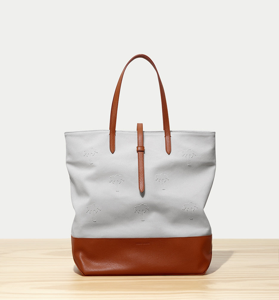 canvas north-south tote