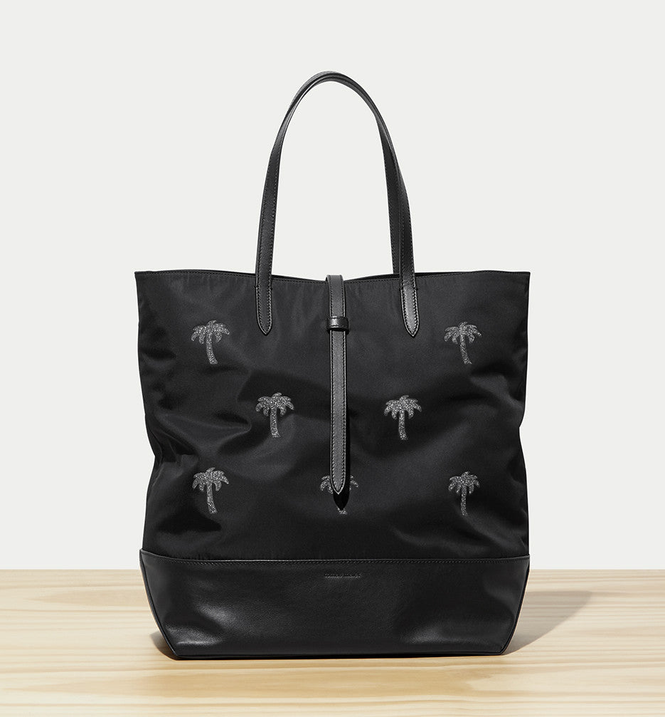 nylon north-south tote