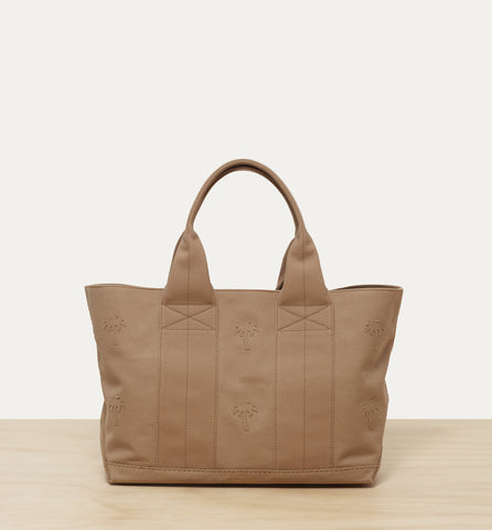canvas beach tote in beige