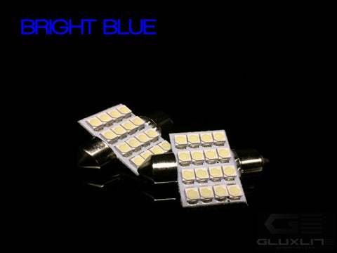 DE3175, DE3423, DE3022. BRIGHT BLUE 16 SMD LED Festoon Bulb.