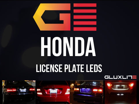 Honda License Plate LED. Bright White. Civic | CR-Z | Fit | S2000 | Accord