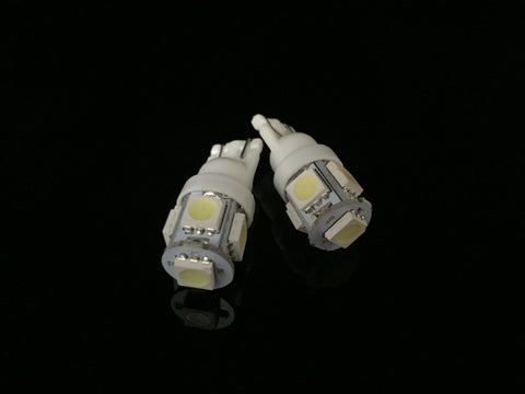T10, T15, 168, 2825, 194, 921. 5 SMD LED Bulbs. Bright White.