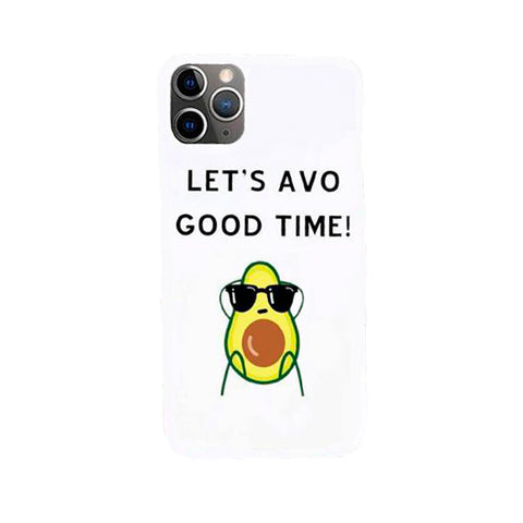 Avocado Phone Case<br>Black And White