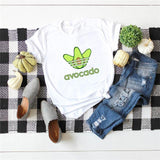 White Avocado Adidas Shirt