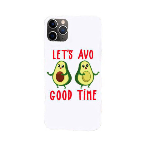 Avocado Pattern Clear Phone Case