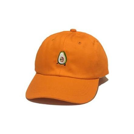 Orange Vegan Avocado Cap | Avocado Clothing Store