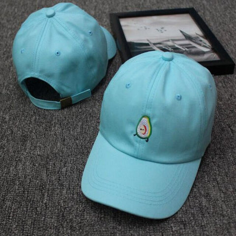 Avocado Cap <br>Light Blue Embroidery