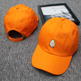 Avocado Cap <br>Orange Embroidery