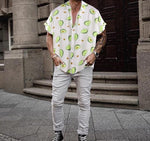 White Avocado Button Up Shirt Model