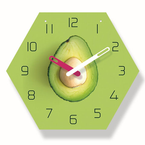 Avocado Watch <br>Clock Wall