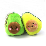 Avocado Smiley Pillow
