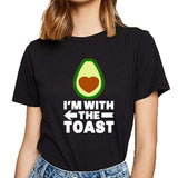 Avocado Shirt<br>I'm With The Toast